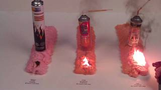 Firestop vs Fireblock Expanding Foams, Flame / Burn Test