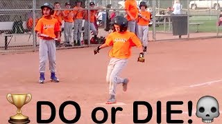 DO OR DIE LITTLE LEAGUE BASEBALL PLAYOFF GAME! Marlins vs Rays