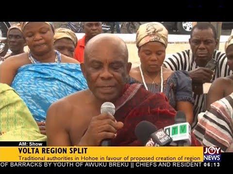 Volta Region Split - AM News on JoyNews (16-4-18)