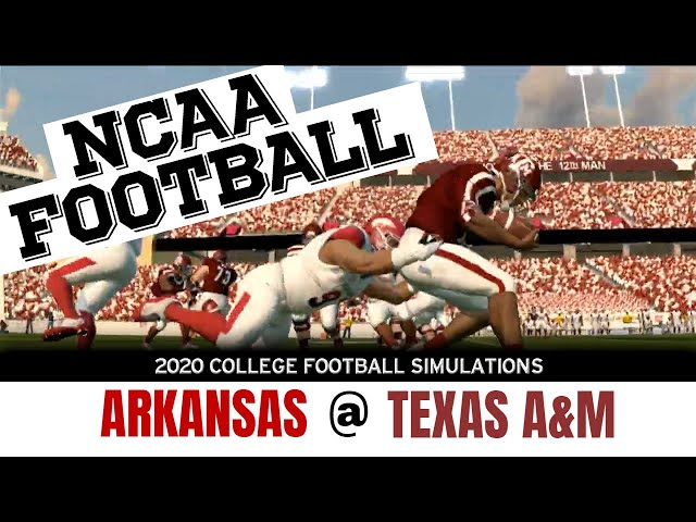 Arkansas vs Texas A&M 2020 NCAA Football Simulation