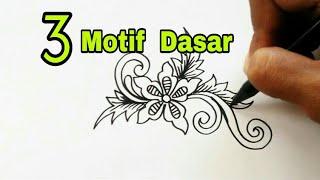 Menggambar 3 Motif Dasar Bunga Batik