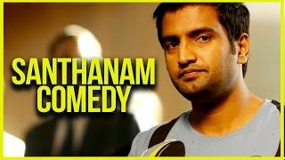 Santhanam Comedy Compilations | Endrendrum Punnagai - Jiiva | Trisha | Santhanam | Harris Jayaraj