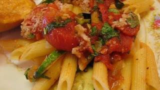 Betty's Pasta With Tomato And Zucchini Sauce