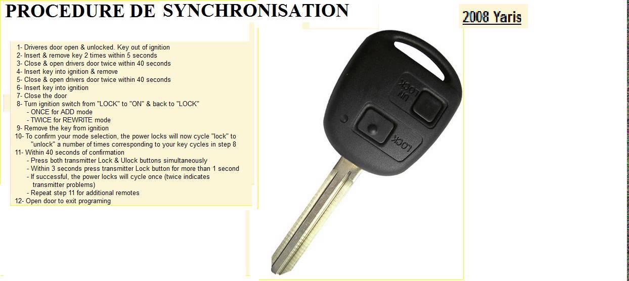 HOW TO PROGRAM REMOTE KEY Toyota Corolla, Celica, Rav4, Land Cruiser,  Avensis rukus aurion