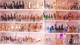 Model Horse Collection Tour ! Traditional + Classic Breyer Horses Video