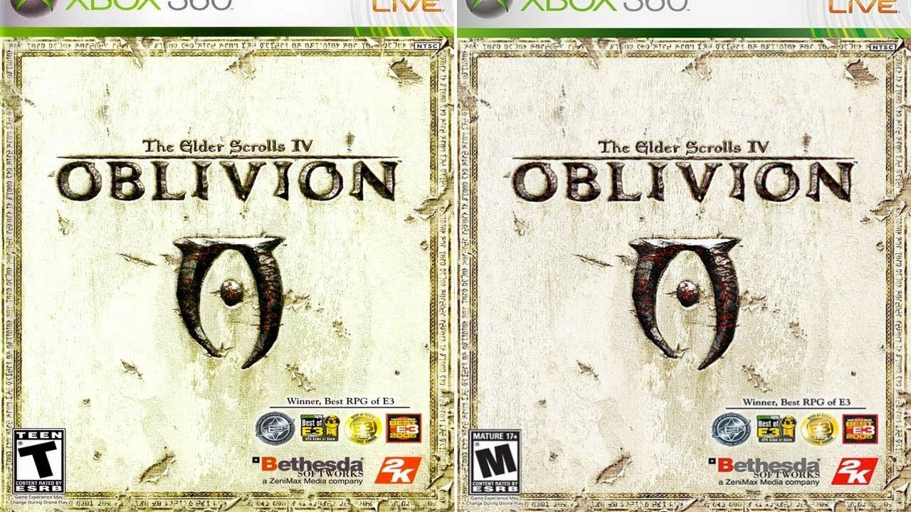 Elder scrolls oblivion mature review