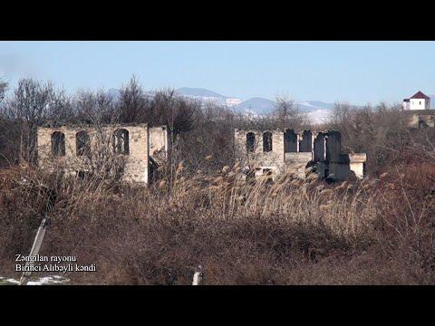Zəngilan rayonunun Birinci Alıbəyli kəndindən videogörüntülər