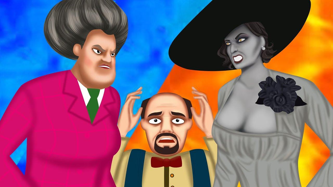 Miss T vs Lady Dimitrescu | Couple Prank | Scary Teacher 3D