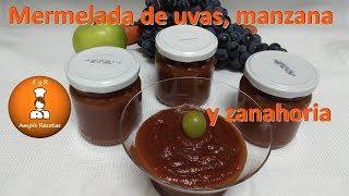 Mermelada de uvas, manzana y zanahoria/FyRAmpisRecetas