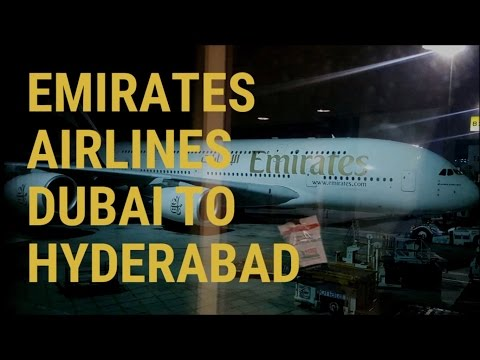 EMIRATES AIRLINES Economy Class ✈ Dubai to Hyderabad (Shamsh