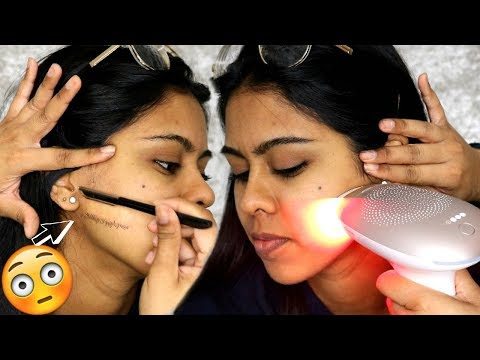 I SHAVED MY SISTER'S WHOLE FACE & DID AT HOME LASER HAIR REMOVAL (Satisfying)
