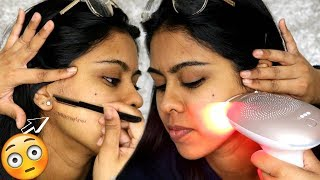 One of Anoushka's most viewed videos: I SHAVED MY SISTER'S WHOLE FACE & DID AT HOME LASER HAIR REMOVAL (Satisfying)