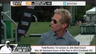 ESPN First Take (8/6/15): Todd Bowles Joins the ESPN First Take Desk
