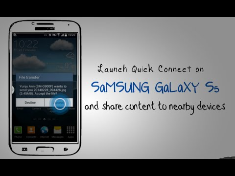 galaxy s5 launch quick connect on samsung galaxy s5 and share content to nearby devices youtube. Black Bedroom Furniture Sets. Home Design Ideas