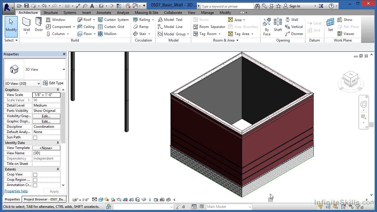 Autodesk Revit Architecture 2014 Tutorial | Basic Wall
