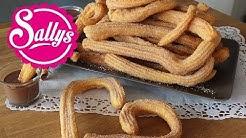 Churros Rezept / Brandteiggebäck mit Zimtzucker und Schokoladensauce / Sallys Welt