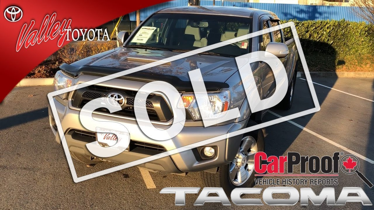 Used 2014 Toyota Tacoma TRD D-Cab, for sale at Valley Toyota in ...