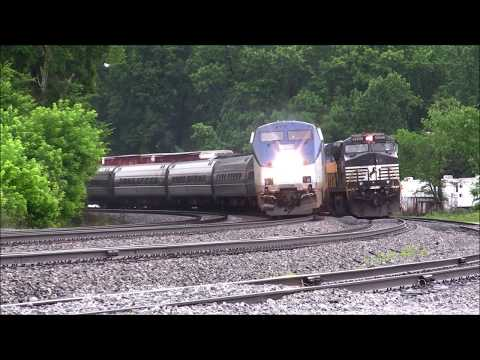 NORFOLK SOUTHERN TRAINS(NS M.O.W. AUSTELL) IN DOUGLASVILLE & AUSTELL,GA 5-29-2018
