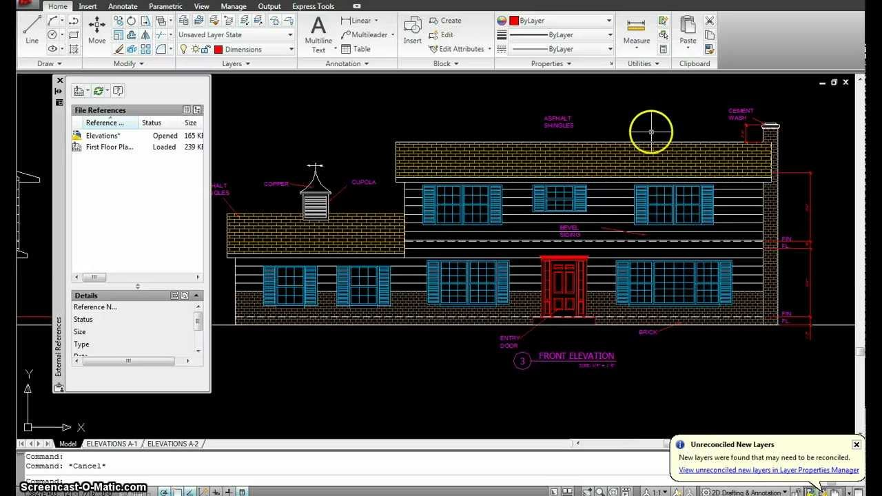 Autocad Tutorial 19 Elevations Part 1 Mp4 Youtube