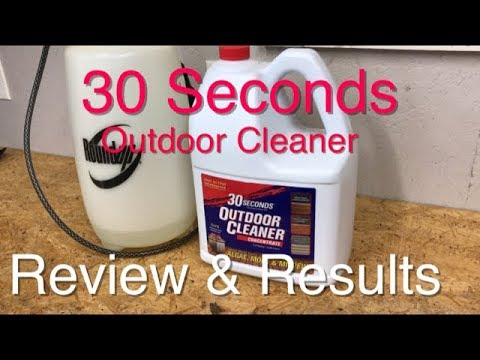 30 Seconds Outdoor Cleaner - Test - Review - Results - SIMPLE, EASY and NO SCRUBBING NEEDED