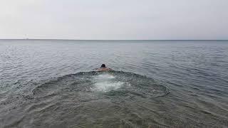 Анапа. Малая бухта. Купание в море 24.10.2017