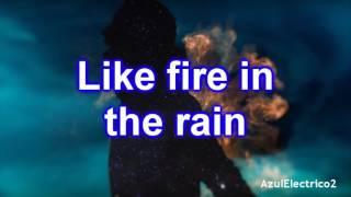 måns zelmerlöw fire in the rain lyricsletra