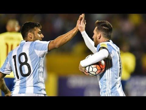 ARGENTINA vs ECUADOR 3-1   All Goals & Highlights   WCQ 2017