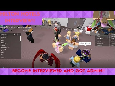 Roblox How To Pass The Hilton Hotel Interview Doovi