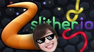 พี่ซานเป็นหนอนกินจุดสุดอ้วน ☀ slither.io ☀ | Sunbeary