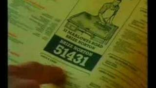 Yellow Pages 'party - french polisher' advert 1990