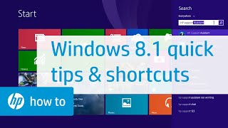 Windows 8.1 Quick Tips and Shortcuts for HP Computers