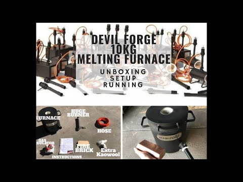 Devil Forge 10 kg Light Duty Propane Melting Furnace  Set Up And Use - 3kg Copper Bar Melt