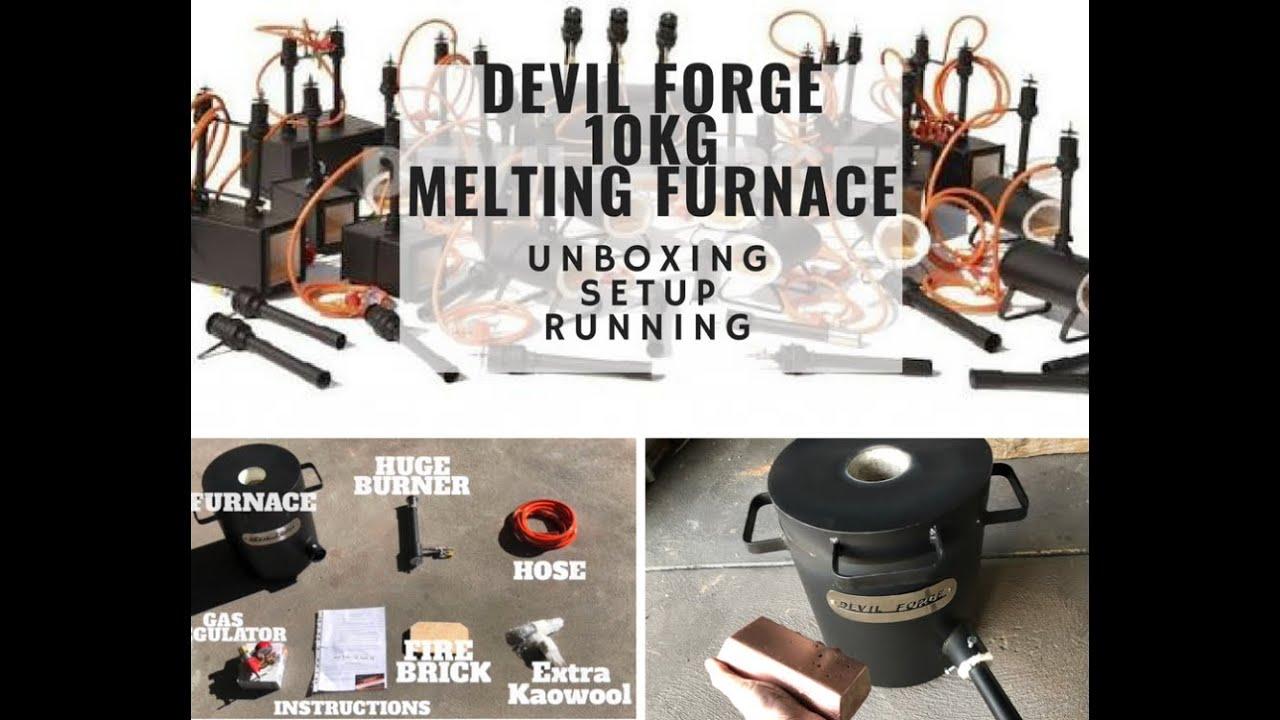 4 Kg Propane Metal Melting Kiln Furnace Gold Melting Furnace Silver Copper Brass Copper Bronze Light Duty Forge