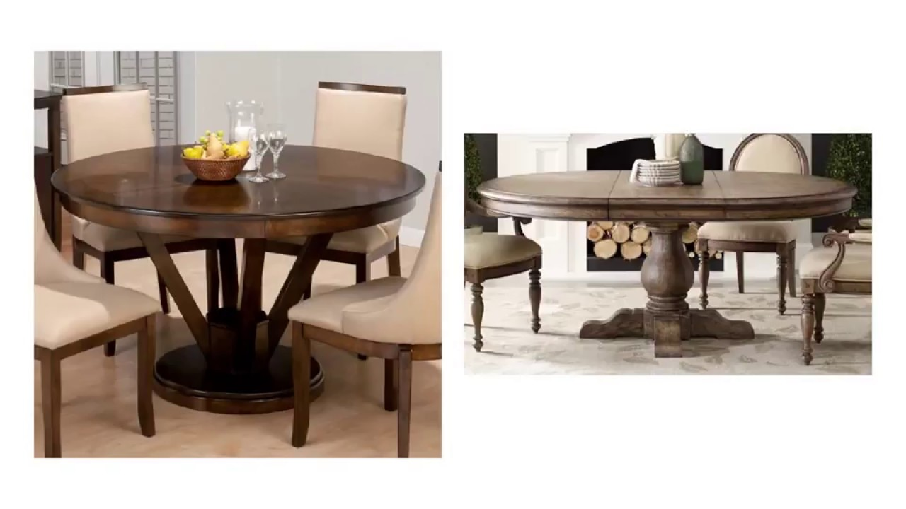 Excellent Round Dining Table Set With Leaf Extension Youtube