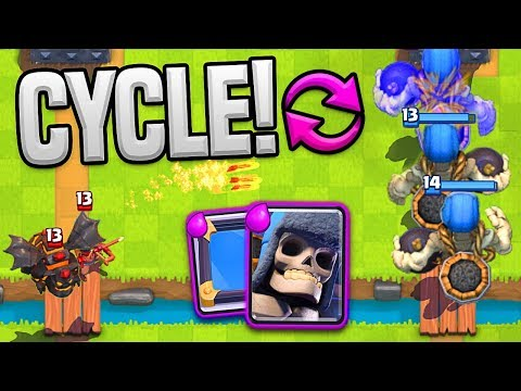 GIANT SKELETON CYCLE - CLASH ROYALE TROLL DECK