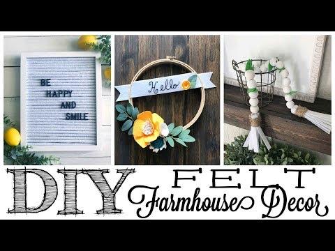 DIY Farmhouse Felt Decor | 3 PROJECTS!