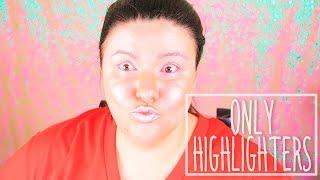 Меня похитили инопланетяне! | Макияж Хайлайтерами | FULL FACE USING ONLY HIGHLIGHTERS CHALLENGE