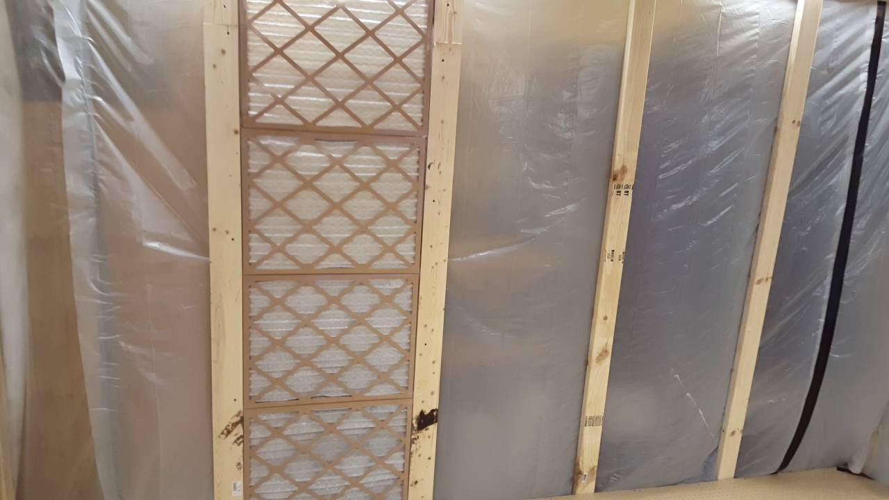 Homemade downdraft paint booth - YouTube