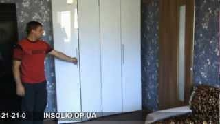 книжный шкаф с складными дверями