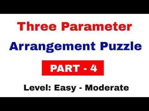 Three Parameter Arrangement Puzzles for SBI Clerk 2018 Exam | Part 4