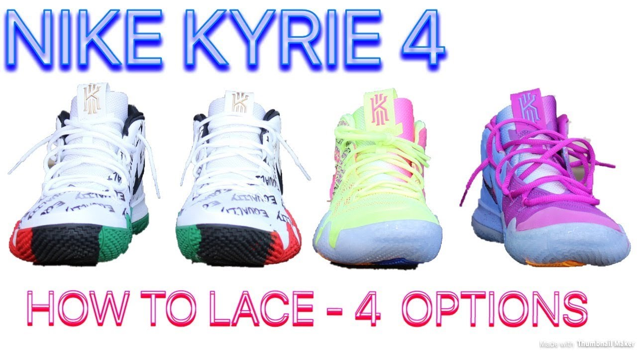 HOW TO LACE KYRIE 4 - 4 OPTIONS   ON FEET!! - YouTube 9aafced71