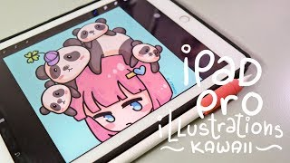 Kawaii Panda Girl | Ipad Pro Illustration with Apple Pencil