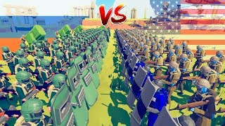 TABS USA vs Russia Modern Army Battle - 1000 Units in Totally Accurate Battle Simulator Challenge