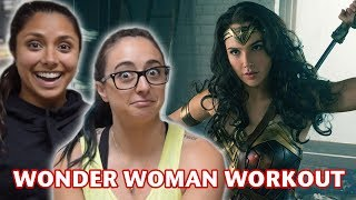 we tried wonder womans workout