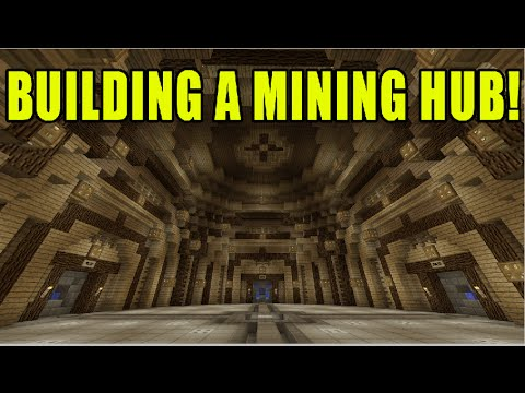 Minecraft Xbox Ep 53 Building a Dome Mining Hub and Minecart Tunnel!