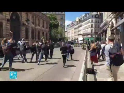فرنسا: حركة عاريات الصدر -فيمن- تنظم وقفة احتجاجية أمام قصر الرئاسة في باريس  - 17:01-2020 / 7 / 7