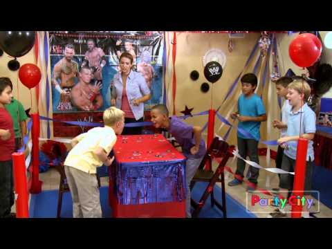 WWE Birthday Party Ideas YouTube Fascinating Boxing Party Theme Decorations
