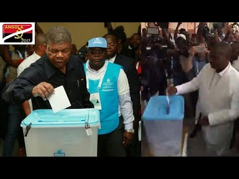 Angolan election candidates cast their ballots before noon i