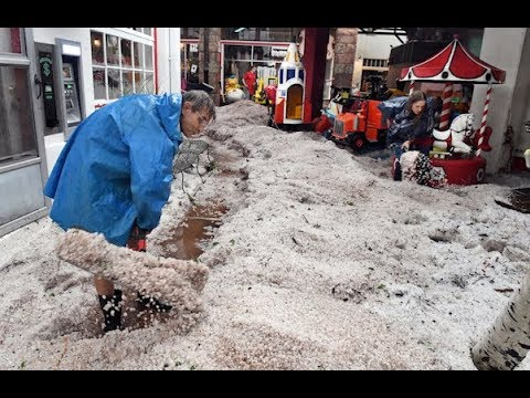 Flood and hail aftermath in Manitou Springs