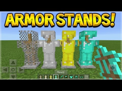 Minecraft Pocket Edition - ARMOR STANDS Custom Pack MCPE (Armor Stands Concept Addon)